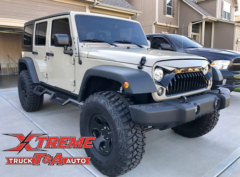 Just added Custom Painted Grille Westin HDX Steps Window Tint and Backup Camera to this 2017 Jeep JK with a 4 Lift on 37 Tires 1