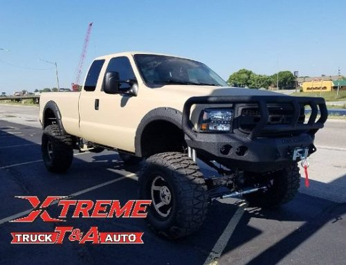 Ford Super Duty with 40″ Mud Grapplers