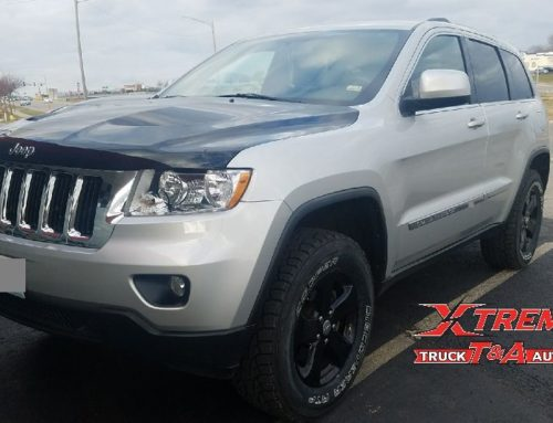 2011 Jeep Grand Cherokee with a 2″ Eibach lift kit.