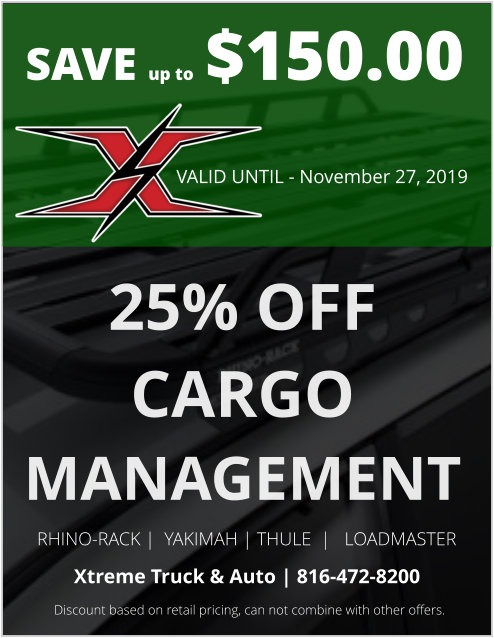 25 percent off cargo management