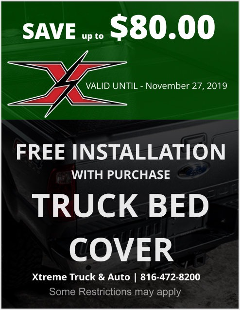 free installation on truck bed cover purchases