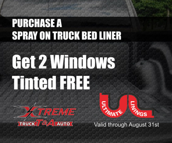 summer deal xtreme truck and auto spray on and window tint